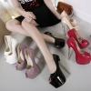รองเท้าส้นสูง ไซต์ 34-40 สีดำ สีขาว สีครีม สีแดง สีม่วงอ่อน