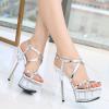 รองเท้าส้นสูงส้นแก้วใสสวยหรู ไซต์ 34-40