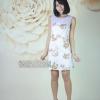 10609 เดรสแขนกุด ลายดอกไม้ สวยมาก ผ้าดีแพทเทอร์เป๊ะมากค่ะ สีม่วง