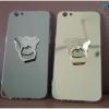 OPPO R9s - เคสหลังเงา พร้อมที่ตั้งแหวนด้านหลังรูปหมี