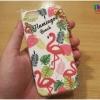 iPhone 6 / 6s - เคส TPU ลาย นกฟลามิงโก้ Flamingos Beach