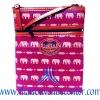 ของฝากจากไทย กระเป๋าสะพายลายช้างสายหนัง แบบ 16 สีม่วง