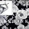 NC101 ผ้าพันคอลายดอกไม้ ผืนใหญ่ใช้คาดหัว พันคอ