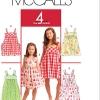 แพทเทิร์นตัดชุดเด็กหญิง Mccalls 5613 Size: 3-4-5-6 ขวบ