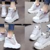 รองเท้าผ้าใบเสริมส้นสีดาวเงิน/ชมพู ไซต์ 35-39