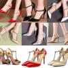 รองเท้าส้นสูงปลายแหลมสีทอง/เงิน/ขาว/ดำ/แดง/นู๊ด ไซต์ 34-47