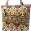 ของขวัญให้ผู้ใหญ่ กระเป๋าถือ size XXL แบบ 87 สีทองชมพู