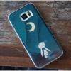 Samsung Galaxy S7 - เคส TPU เงาวับ ลายการ์ตูน กระต่ายมองพระจันทร์