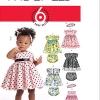 แพทเทิร์นตัดชุดเด็กหญิง Mccalls 5791 Size: S-M-L-XL