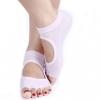 ถุงเท้าโยคะกันลื่น Socks Yoga รุ่นเปิดนิ้วสีชมพูอ่อน