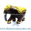 ของขวัญเกษียณอายุ ช้างแกะสลัก ช้างทรงเครื่องเดินเส้น แบบ S (3 นิ้ว)