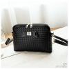 J26-กระเป๋าลายถักไม่ปักหมุด - สีดำ