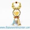 ของพรีเมี่ยม ของที่ระลึกไทย กระดิ่ง แบบที่ 8 สีเงินลายทอง