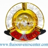 ของพรีเมี่ยม ของที่ระลึกไทย จานโชว์ แบบที่ 63 Size M เงินทอง-แดง