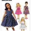 แพทเทิร์นตัดชุดเดรสเด็กหญิง Butterick 6046CL Size: 6-7-8 ขวบ