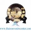 ของพรีเมี่ยม ของที่ระลึกไทย จานโชว์ แบบที่ 77 Size SS สีดำลายทอง