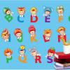 ABC กับ การ์ตูนเด็กหมวก a589