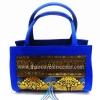 ของขวัญให้ผู้ใหญ่ กระเป๋าถือทรงกระบอก แบบ 54 สีทองน้ำเงิน
