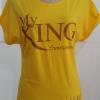 4304 เสื้อเหลืองแขนสั้น ลาย My king