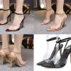 รองเท้าส้นสูงพื้นปลายแหลมสุดเก๋สี แอพพริคอท/ดำ ไซต์ 35-40