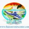 สินค้าที่ระลึก จานโชว์เรซิ่น แบบ 21 ลายเกาะสมุย
