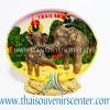 สินค้าที่ระลึก จานโชว์เรซิ่น แบบ 19 ลายช้างนำเที่ยว