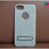 iPhone 7 - เคสฟรุ้งฟริ้ง ด้านหลังตั้งได้ (สีเงิน) popphune