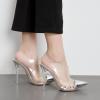 รองเท้าส้นสูงแบบสวมปลายแหลมสีเงิน ไซต์ 35-40
