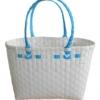 ตะกร้าสานพลาสติก กระเป๋าสานพลาสติก ATS - สายฟ้า กว้าง 14 cm. ยาว 32 cm. สูง 20 cm.