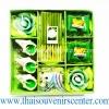 ของชำร่วย เทียนหอม Gift Set M แบบ 32 สีเขียว