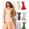 แพทเทิร์นตัดเดรสสตรี มิกซ์แอนด์แมช Vogue 8948AX5 ไซส์ปกติ Size: 4-6-8-10-12 (อก 29.5 - 34)