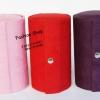 กล่องเครื่องประดับ แบบ 2 ( ทรงกลม ) พร้อมส่ง สีแดง สีม่วง สีชมพูเข้ม