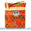 ของฝากจากไทย กระเป๋าสะพายลายช้างผ้าถุงสายหนัง แบบ 5 สีแดง