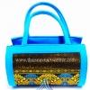 ของขวัญให้ผู้ใหญ่ กระเป๋าถือทรงกระบอก แบบ 55 สีทองฟ้า