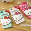 เคสซิลิโคน Hello Kitty ลายจุด - iPhone 5, 5s
