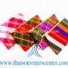 ของขวัญให้ผู้ใหญ่ กระเป๋าสตางค์ลายไทย (แพ็ค 10 ชิ้น คละสี) แบบ 15 ลายผ้าขาวม้า
