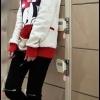 เสื้อกันหนาวมีฮู้ด มิกกี้เมาส์ ( Red )