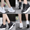 รองเท้าผ้าใบเสริมส้นสีขาว/ดำ ไซต์ 35-39