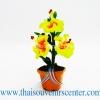 ของขวัญไทย ดอกไม้จิ๋วดินปั้น ดอกชบาสีเหลือง