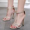 รองเท้าส้นสูงแบบสวยติดหมุดกลม ไซต์ 35-40