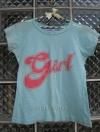 """เสื้อยืด ปักเลื่อมที่บ่า สกรีนหน้า """"Girl"""" เนื้อผ้าบางสบาย มี 2 สี ฟ้าเขียว,ชมพู"""