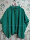 เสื้อชีฟอง สีเขียวสด คอปก สวมใสสบาย ดูสวยสดใส