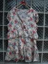 เดรสสั้น สีครีมลายดอกไม้ เนื้อผ้านิ่ม ใส่สบาย ใส่แล้วดูสวยหวาน ยี่ห้อ Style By CNE จากเกาหลี Size M