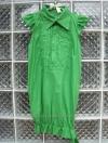เดรสแฟชั่น คอปกสีเขียวสดใส ปลายเดรสจั๊ม ใส่แล้วดูสวยสดใส
