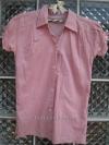 เสื้อคอปก แขนตุ๊กตา สีชมพู เนื้อผ้าบาง ใส่สบาย มี 2 เฉด คือ ชมพู กับชมพูอ่อน