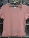 เสื้อยืดสีชมพูหวาน คอกว้าง ยี่ห้อ AIIZ size M