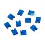 จัมเปอร์ สีน้ำเงิน Mini Jumper 2 Pins Female Pitch 2.54mm จำนวน 10 ชิ้น