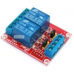 บอร์ด Relay 2 ช่อง 5V แบบ Active High/Low 10A 250V สำหรับ Arduino และ Microcontroller