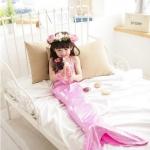 ชุดว่ายน้ำนางเงือก สีชมพูอ่อน (ชุด3ชิ้น) แพ็ค 5ชุด ไซส์ 100-110-120-130-140