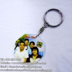 023-มิกซ์รูป สกรีนพวงกุญแจแปดเหลี่ยม